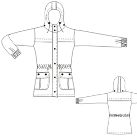 Select your   sewing patterns Parka 798 LADIES Jackets