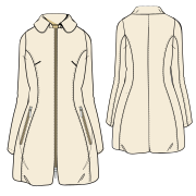 Choose your   sewing patterns Coat 7342 LADIES Coats