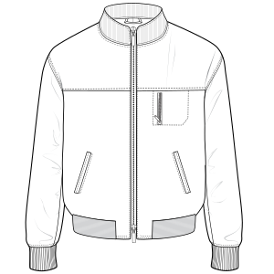 All our patterns have been tested and they are prepared for garments production Jacket 610 MEN Jackets