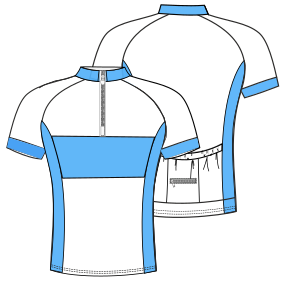 Easy dress patterns for domestic and professional users Cyclist Maillot 6023 MEN T-Shirts