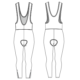 All our patterns have been tested and they are prepared for garments production Cycling suit 7218 MEN One-Piece