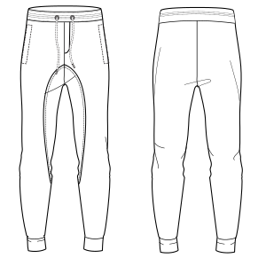 All our patterns have been tested and they are ready for garments production Jogger pants 7122 MEN Trousers