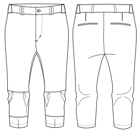 All our patterns have been tested and they are prepared for garments production Softball pants 7173 MEN Trousers