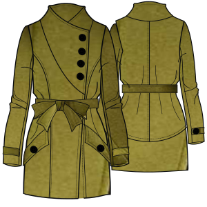 Browse our  sewing patterns Coat 7282 LADIES Coats
