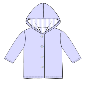 All our patterns have been tested and they are prepared for garments production Jacket 782 BABIES Jackets