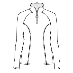 Select your   sewing patterns Polo neck 805 LADIES Sweatshirt