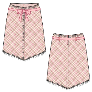 All our patterns have been tested and they are prepared for garments production Skirt Fringe 674 GIRLS Skirts