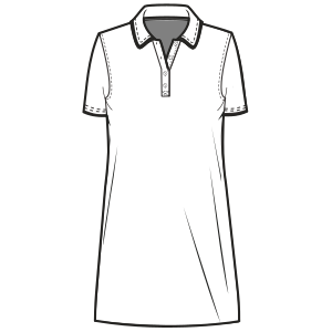 Easy dress patterns for  knit Polo Dress LADIES Large Sizes