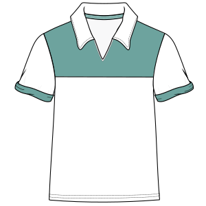 Dressmaking patterns for professionals Club polo 6013 MEN T-Shirts