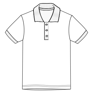 Dressmaking patterns for professionals Polo 670 MEN T-Shirts