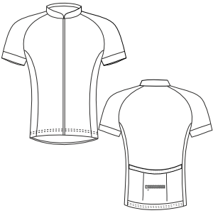 Dressmaking patterns for everybody Cyclist Maillot 3012 MEN T-Shirts
