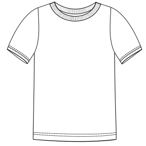 All our patterns have been tested and they are ready for garments production T-Shirt 644 MEN T-Shirts