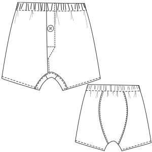 All our patterns have been tested and they are prepared for garments production Underware 796 MEN Underwear