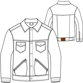 All our patterns have been tested and they are prepared for garments production Jean jacket 7269 MEN Jackets