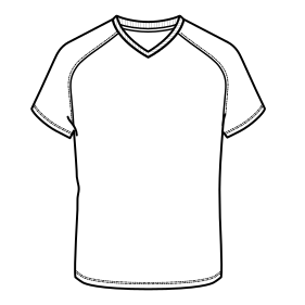 Easy dress patterns for domestic and professional users Football T-Shirt 7390 MEN T-Shirts