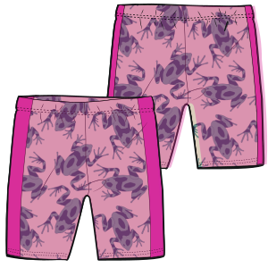 All our patterns have been tested and they are made for garments production Swim bermudas 7237 GIRLS Trousers