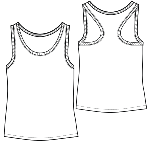 All our patterns have been tested and they are made for garments production Tank top 3080 LADIES T-Shirts