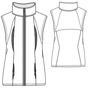 Easy dress patterns for  knit Vest 7145 LADIES Waistcoats
