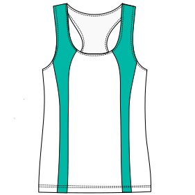 Dressmaking patterns for professionals Runing top tank 6816 LADIES T-Shirts