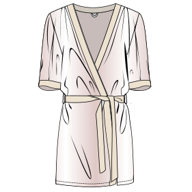 All our patterns have been tested and they are prepared for garments production Dressing gown 7338 LADIES Accessories