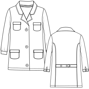 All our patterns have been tested and they are prepared for garments production Smock LS 2898 UNIFORMS One-Piece