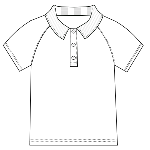 Easy dress patterns for  sew Sports Shirt 0306 BOYS T-Shirts