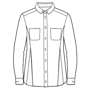 All our patterns have been tested and they are prepared for garments production Shirt LS 3030 MEN Shirts