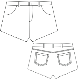 Select your   sewing patterns Short 2835 LADIES Shorts