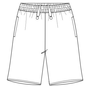 Browse our shop for sewing patterns Bermudas basketball 2974 MEN Shorts