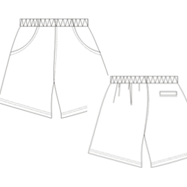 All our patterns have been tested and they are ready for garments production Bermudas Tennis 648 MEN Trousers