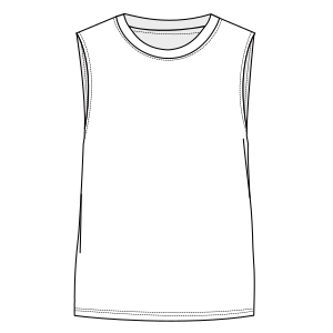 Browse our  sewing patterns Sleeveless T-Shirt 7080 MEN T-Shirts