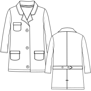 Browse through a offer of dress patterns Smock 6712 UNIFORMS One-Piece