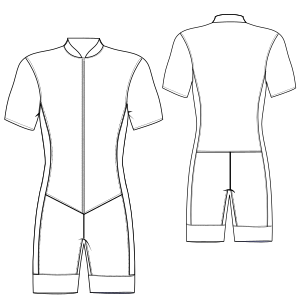 Browse our shop for sewing patterns Speed suit 6980 MEN One-Piece