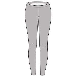 All our patterns have been tested and they are prepared for garments production Sport leggings 6696 LADIES Trousers