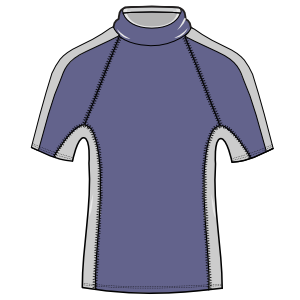 Dressmaking patterns for professionals Surf T-Shirt 3028 MEN T-Shirts