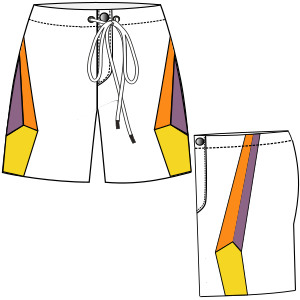 All our patterns have been tested and they are ready for garments production Surf short 6066 MEN Shorts