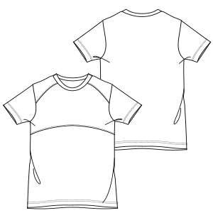 All our patterns have been tested and they are ready for garments production T-Shirt 748 BOYS T-Shirts