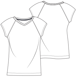 Choose your   sewing patterns T-Shirt L 7072 LADIES T-Shirts