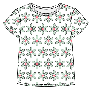 Easy dress patterns for domestic and professional users T-Shirt 002 GIRLS T-Shirts