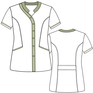 Select from a  and nice assortment of costume patterns Nurse Jacket 3004 UNIFORMS Sets