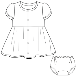 Browse through a  and nice assortment of costume patterns Dress Gabardine 0014 GIRLS Dresses