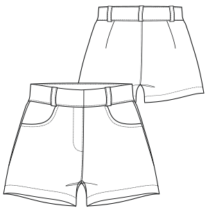 All our patterns have been tested and they are made for garments production Short 7057 LADIES Shorts