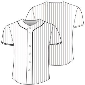 Easy dress patterns for  stitch Baseball shirt 7067 MEN Shirts