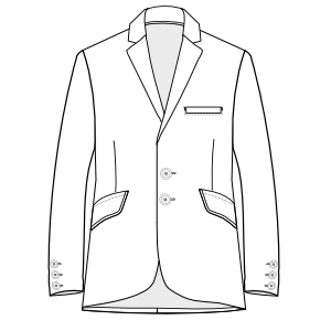 All our patterns have been tested and they are prepared for garments production Tailor Blazer 3021 MEN Jackets