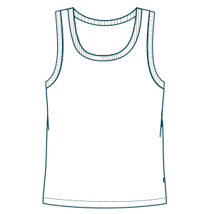 Browse our catalogue for sewing patterns Sleeveless T-Shirt 7071 GIRLS T-Shirts