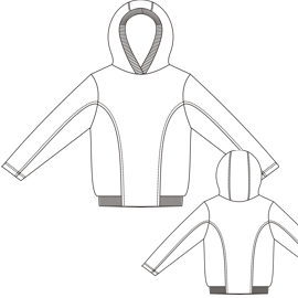 All our patterns have been tested and they are made for garments production Jumper 00109 BOYS Sweatshirt