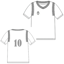 Browse our  sewing patterns Football Shirt 2851 MEN T-Shirts