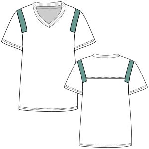 Dressmaking patterns for everybody Football T-Shirt 3002 LADIES T-Shirts
