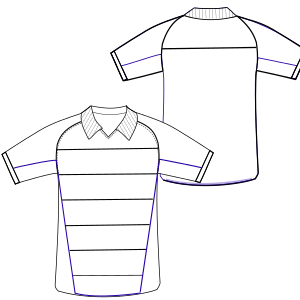 Dressmaking patterns for professionals T-Shirt football 3003 MEN T-Shirts
