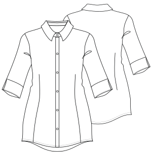 Browse our catalogue for sewing patterns Shirt 7109 LADIES Shirts